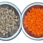 Chuño y zanahoria