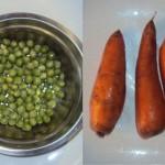 Arveja y zanahoria