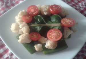 Verduras con carne de oveja