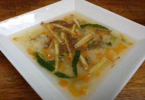 Sopa con charque y verduras